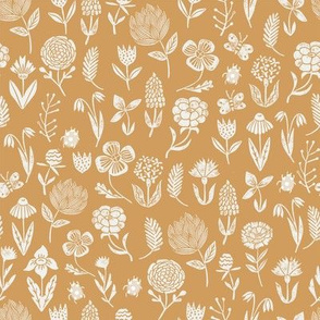 meadow floral - oak leaf sfx1144 - baby girl floral, earth tone floral, sage florals, nursery fabric, baby fabric, kids bedding