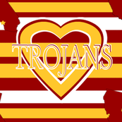 Trojans Stripes School Team Colors Red Yellow