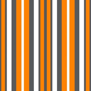 Volunteers Orange Gray White School Team Colors Stripes