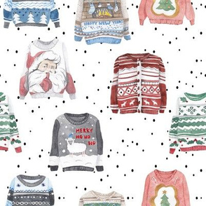 Ugly Christmas Sweaters // White