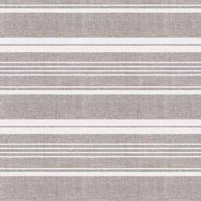 Pathway - Textured Stripe Flax Large Scale