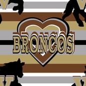 Western Michigan Stripes Heart Team Colors Brown Tan Gray