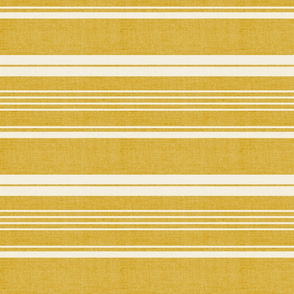 Pathway - Textured Stripe Goldenrod Yellow Large Scale