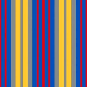 Kansas Jayhawks Stripes Team School Colors Blue Red Yellow Gray