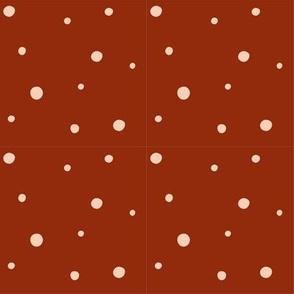 burnt orange speckle pattern