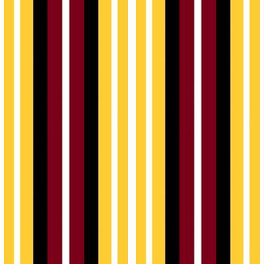 Stripes Gold Maroon White and Black Vertical