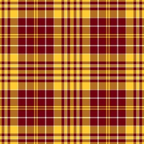 Plaid Gold and Maroon with a bit of White