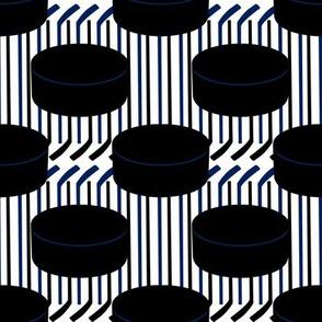 Toronto Maple Leafs Hockey Pucks Polka Dots Stick Stripes Team Colors Blue White