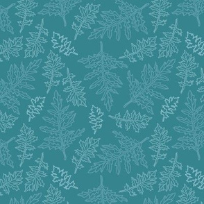 green leaf carpet
