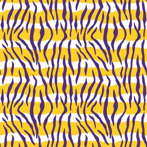 Animal Print Tiger Stripes Purple Gold