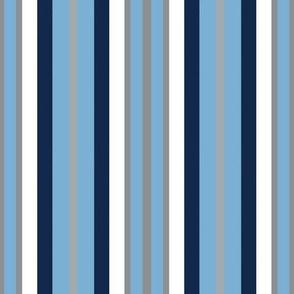 Tar Heels Stripes School Team Colors Blue White Gray Black
