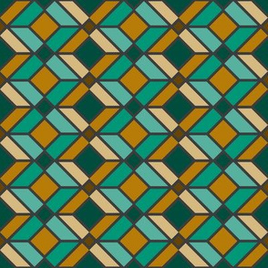DU Geometric Lines - Green and Gold