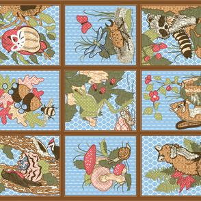 Forest Life Cheater Quilt