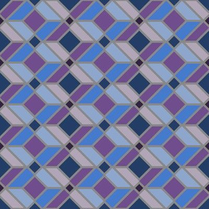 DU Geometric Lines - Purple and Blue