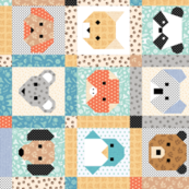 Friendly Animal Faces pattern