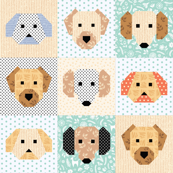 Friendly Dogs Faces quilt