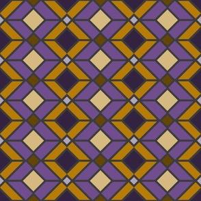 DU Geometric Lines - Purple and Yellow