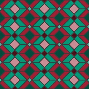 DU Geometric Lines - Green and Red