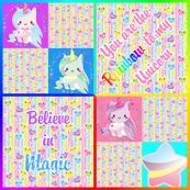 Unicorn kawaii magic