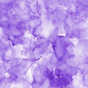 Watercolor solid purple, mono colour, uni