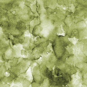 Watercolor solid olive green, mono colour, uni