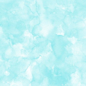 Watercolor mint, ice blue, mono colour, uni