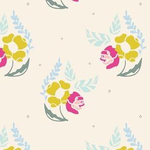 Poppy Rose Bouquet Pattern