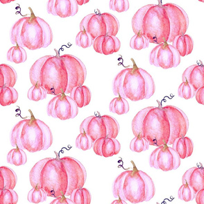 Pumpkin Patch Pink on White | LARGE | Renee Davis