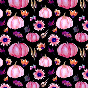 Pink Pumpkin Party | Black | Renee Davis