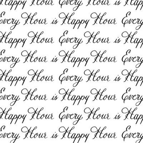 Happy Hour Drink Words Font Calligraphy