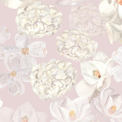 White Flowers - pale pink