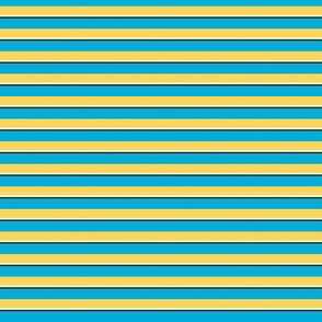 Save / The Reign of the Honey Bee   -Azure Blue and Yellow Stripes