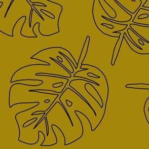 mustard monstera