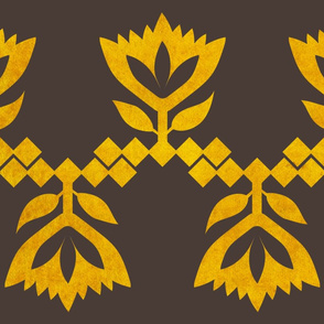 Golden-brown-Lotus-big-pattern