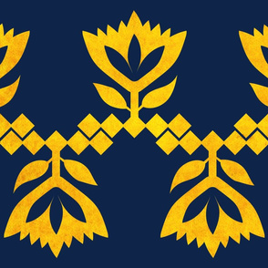 Navy-Golden-Lotus-big-pattern