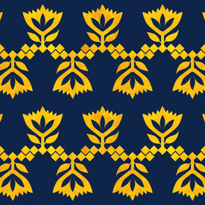 Navy-Golden-Lotus-small-pattern