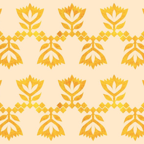 Beige-Golden-Lotus-small-pattern