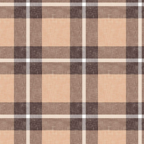 big square plaid in cream and sienna