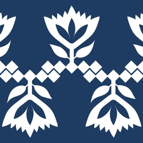 Navy-White-Lotus-big-pattern
