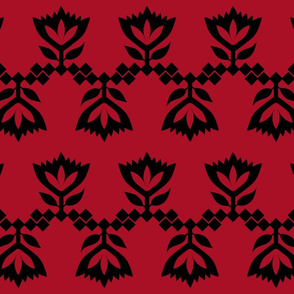 Red-Black-lotus-small-pattern