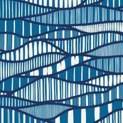 Modern Waves (Denim)