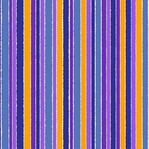 Striped Purple Blue Gold - vertical