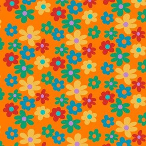 funky tiled flowers