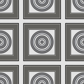 Marty's Gray Squares with Pinwheels