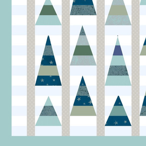 Cheater Quilt Winter Trees