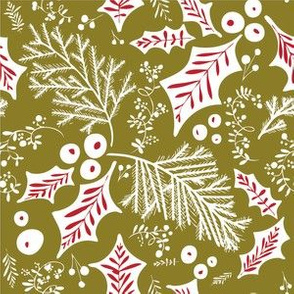 Pine & Holly Green