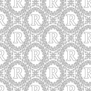 letter-R-black-white-wreath-SF-PATTERN-0819