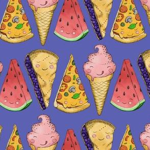 Happy Picnic Triangles on Purple