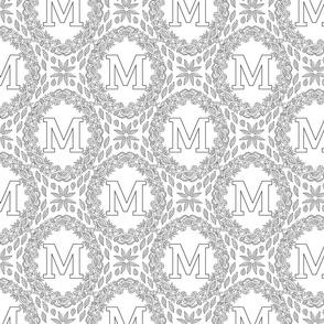 letter-M-black-white-wreath-SF-PATTERN-0819