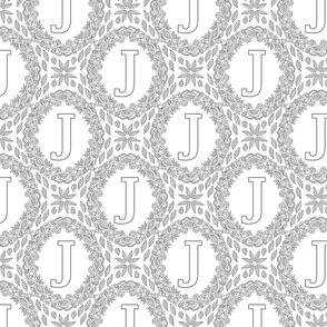 letter-J-black-white-wreath-SF-PATTERN-0819